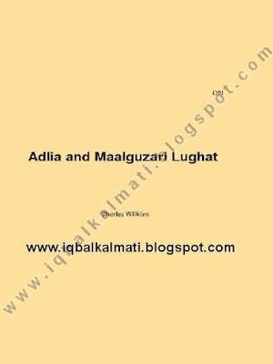 Adlia and Maalguzari Lughat by Natinal Language Athority