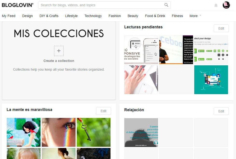 crear-colecciones en-bloglovin