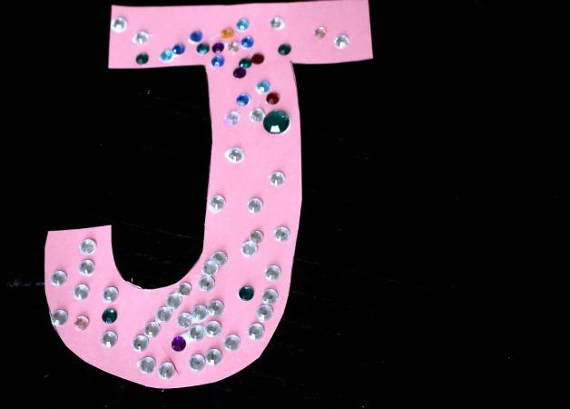 Letter craft for letter j - j is for jewels