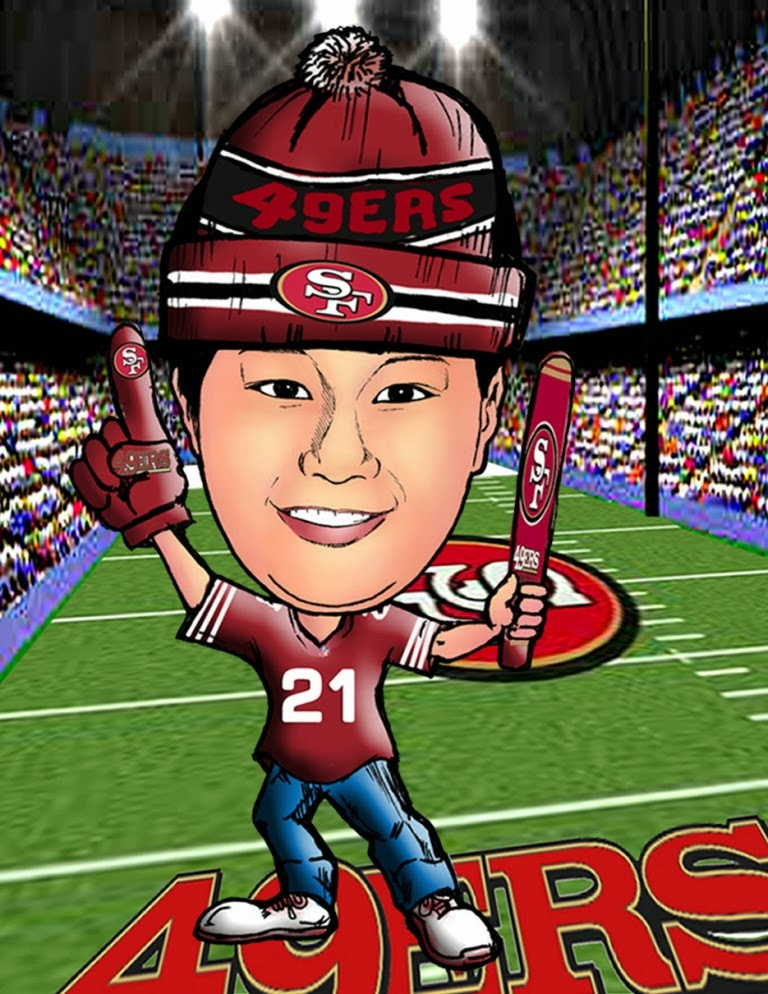 Kaelcatures San Francisco 49ers Caricatures