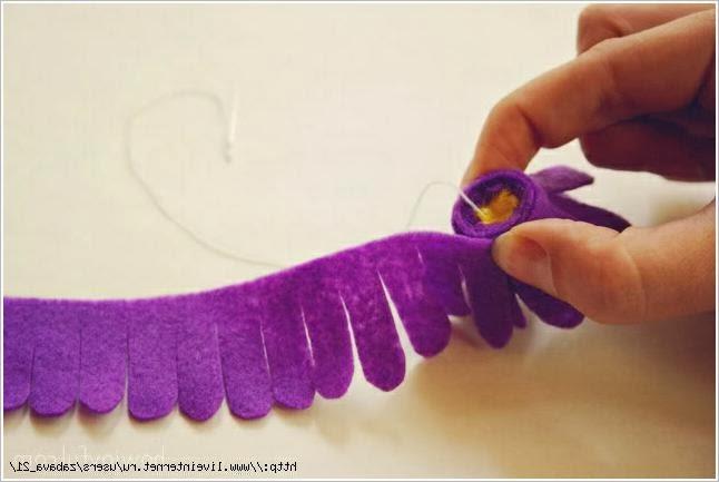 Цветы из фетра и войлока своими руками. Flowers of Felt DIY tutorial.
