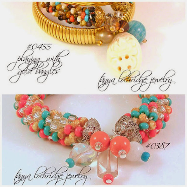 Tanya Lochridge Jewelry Russian Amazonite Gemstone & Floral Carved Bead Soft Bangle