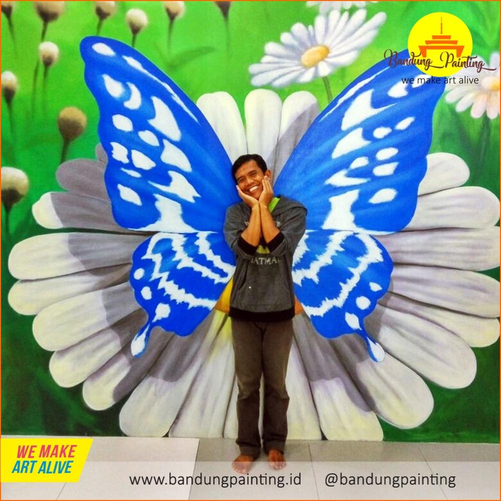 Paling Hits 30 Lukisan Kupu Kupu 3d Di Dinding Rudi Gambar