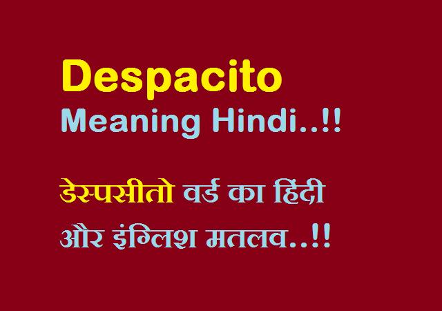 Despacito Meaning Hindi