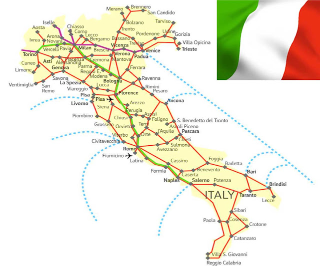 Gambar Peta negara Italia