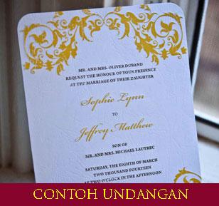 Undangan Pernikahan Islami Contoh Undangan Undangan Nikah