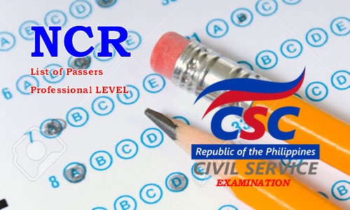 List of Passers NCR August 2017 CSE-PPT Professional Level