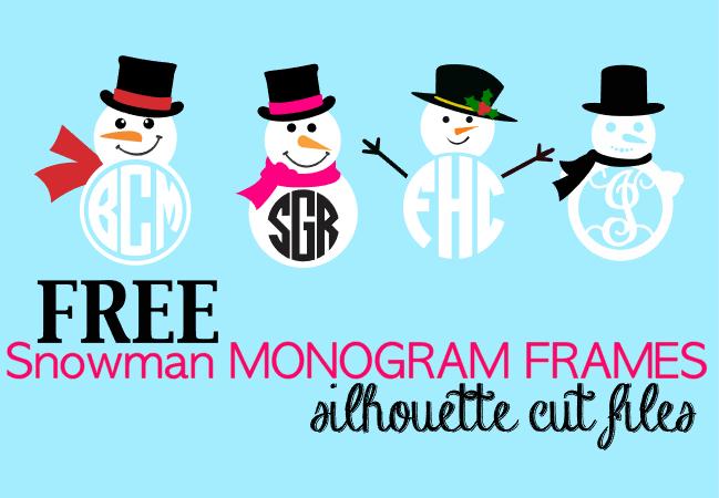 silhouette studio, silhouette cameo designs, snowman, frames, snowmen designs, snowman set, monogram frames, winter monogram frames