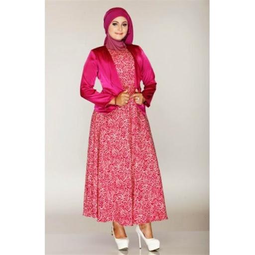 Sketsa Desain Baju Batik Muslim Wanita Terbaru: Contoh Batik Gambar