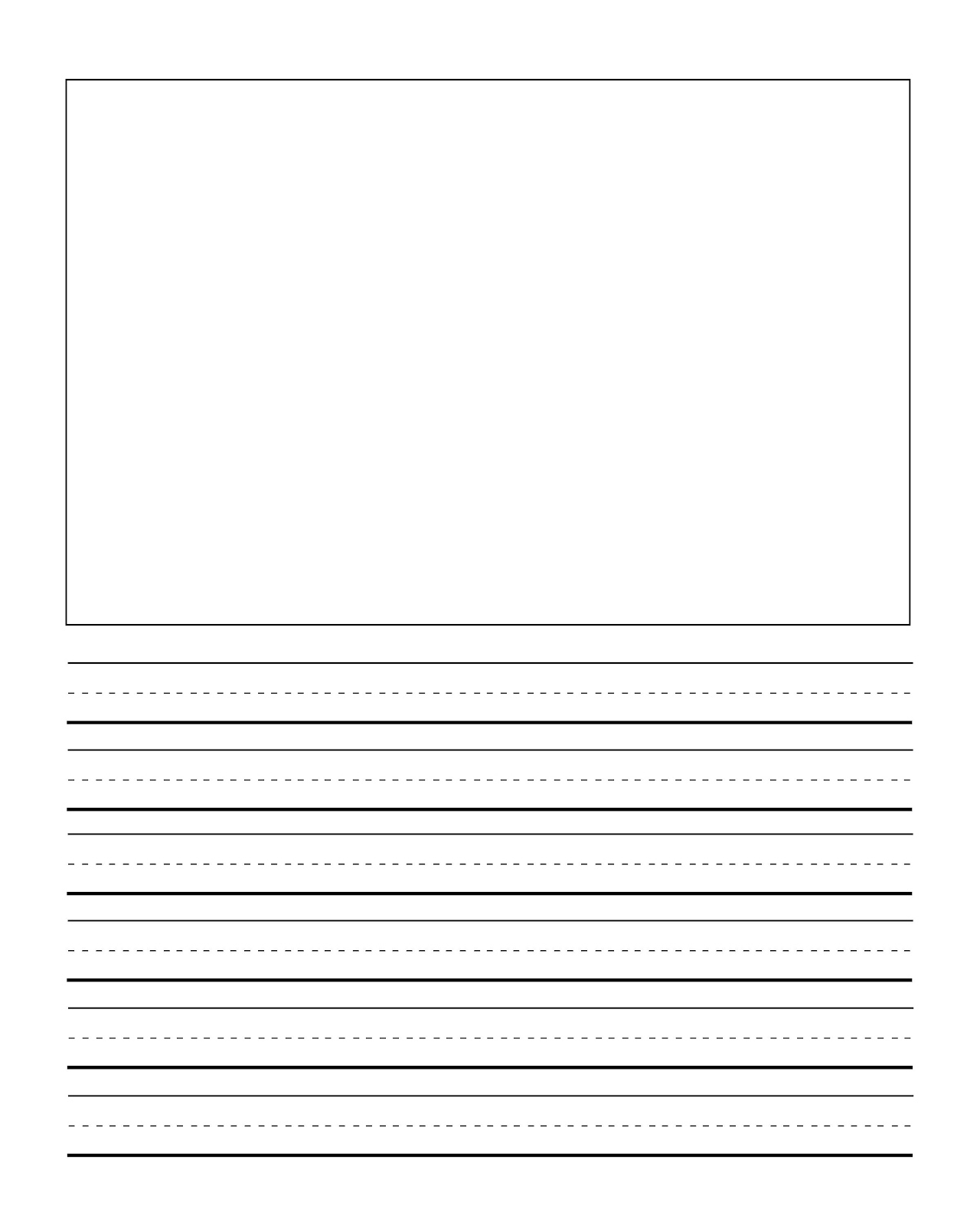 Kinder Writing Paper Kindergarten Writing Paper 01 15