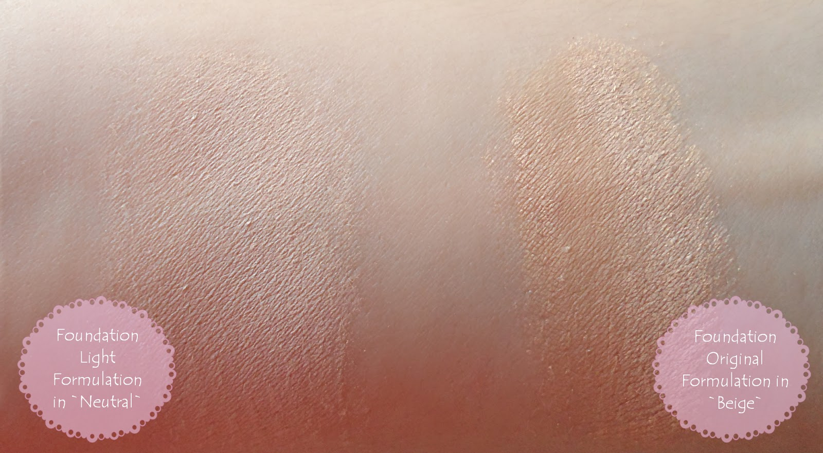 Buff`d Mineral Cosmetics foundation powder Review Swatches pictures samples