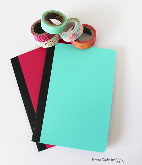 craft supplies to diy notebooks