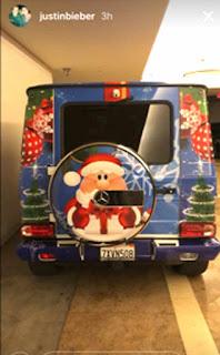 Justin Bieber Wraps His G-Wagon christmas color