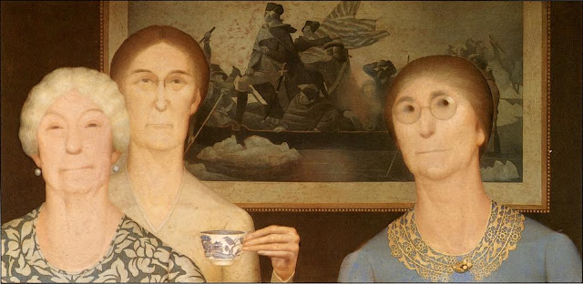 Daughters of Revolution by Grant Wood (1932)