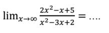 Contoh soal fungsi limit tak hingga