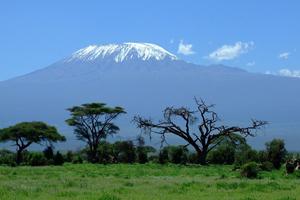 El Monte Kilimanjaro, la montaña de mayor altura del continente africano