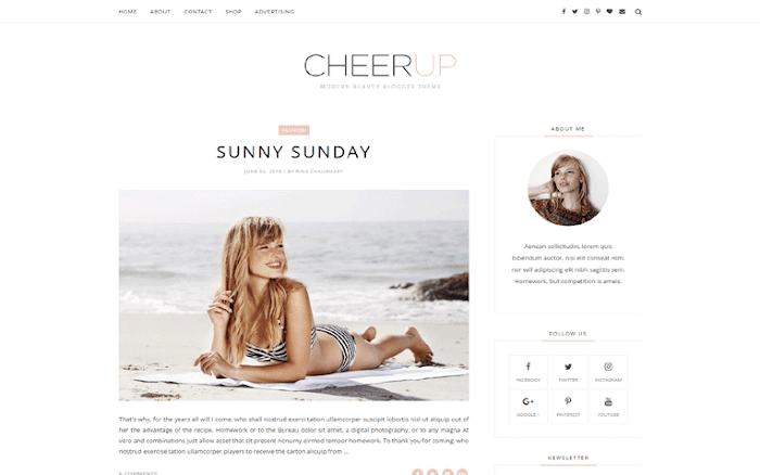 Cheer Up blogger template