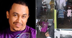 OAP Daddy Freeze Shares Photos of Church Members Holding Service Inside Flooded Church