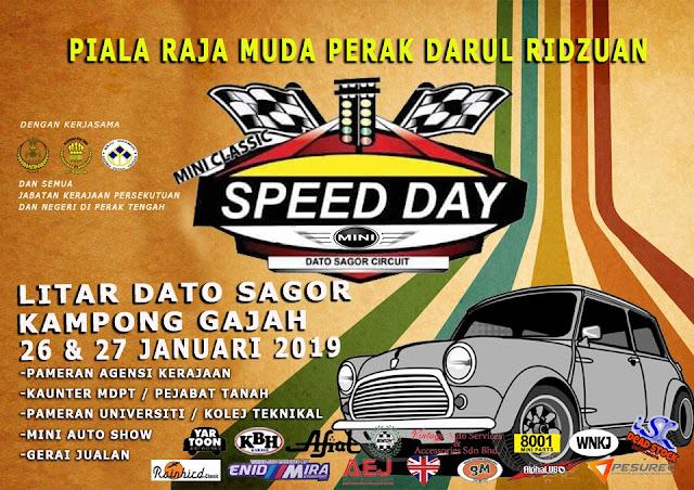 Menyaksikan Perak Royal Mini Classic Speed Day Piala Raja Muda Perak Darul Ridzuan Tahun 2019