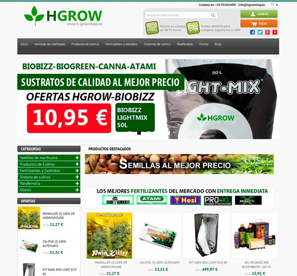 Grow Shop Barcelona Online
