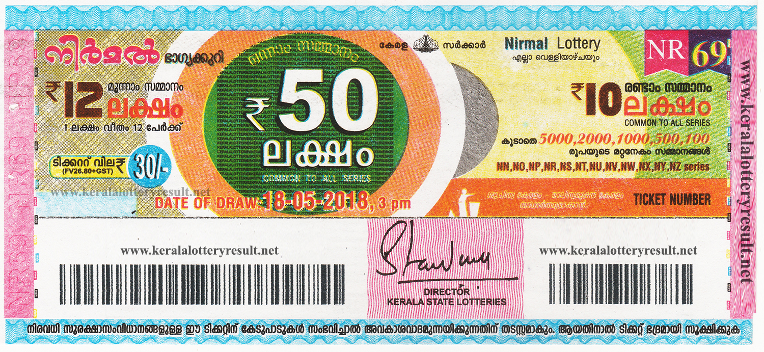 Kerala Lottery Result: 18-05-2018 Nirmal Lottery Results