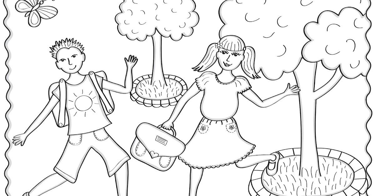 cocolico-creations: Mercredi Coloriage # 17, Les Ecoliers...