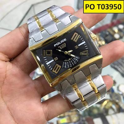 Đồng hồ nam dây inox trắng PO T03950