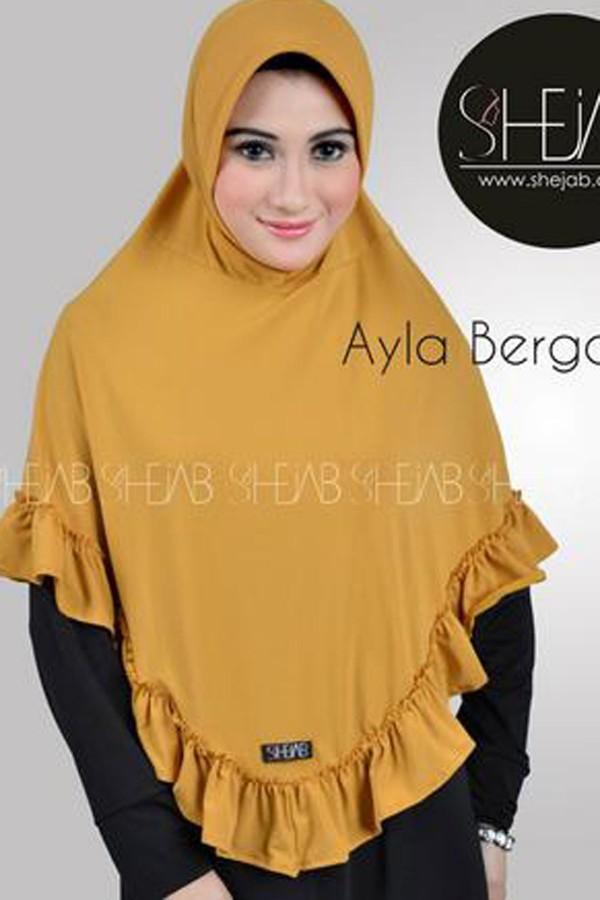 Hijab Bergo Kuning Ayla Shejab