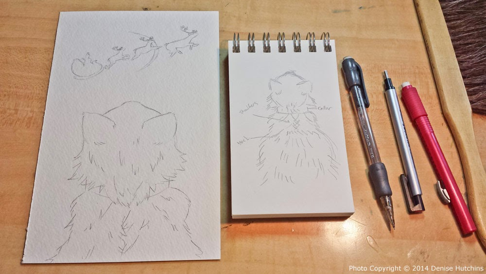 Beary Christmas Illustration Sketches II