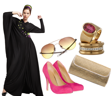 9da2f206b9a47 The ruffles on the abaya added a touch of femininity and the overall colors  are very summery! What do you think
