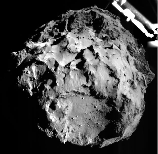 Das erste Foto von 67P/Churyumov–Gerasimenko -  Kometenmission Rosetta - Pic ESA/Rosetta/Philae/ROLIS/DLR