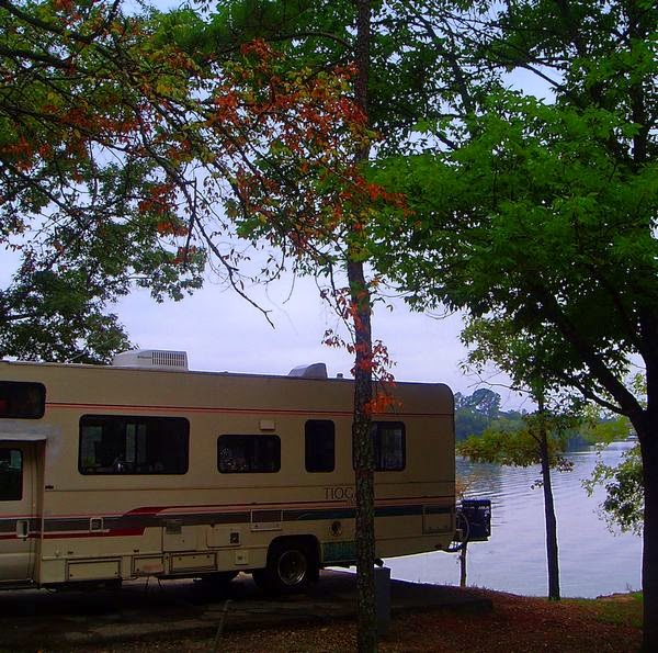 Lake Greenwood State Park in South Carolina with Tioga Montara Class C Motorhome RV