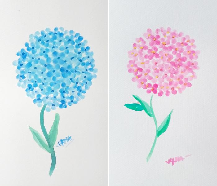 Watercolor Hydrangea