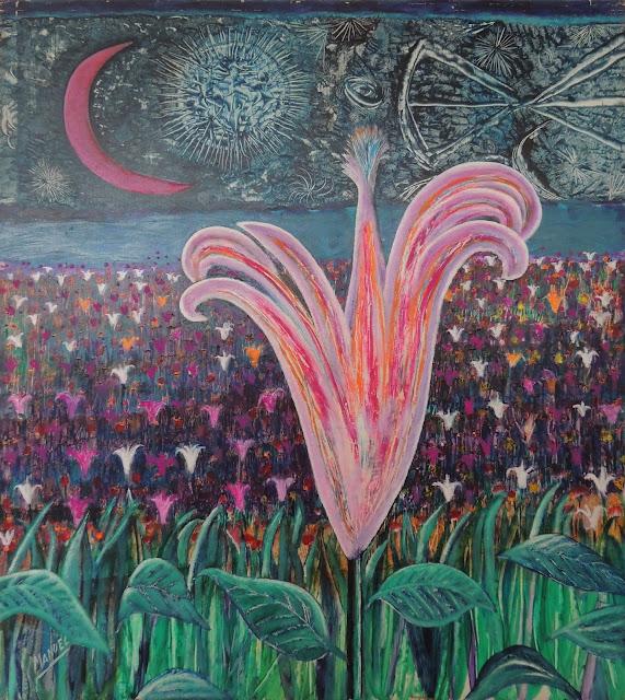 Obra de arte en venta Manuel Carmona: pintura flor
