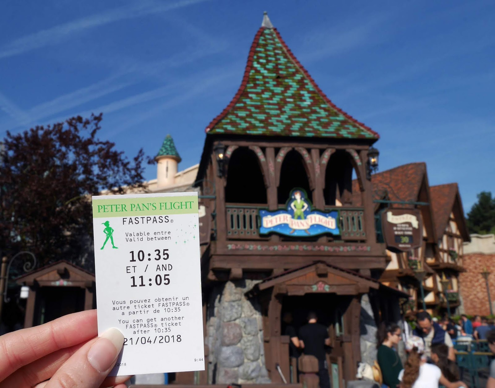 Peter Pan's Flight ride at Disneyland Paris