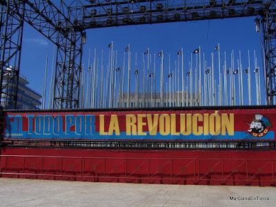 """""""Protestódromo"""" o Tribuna Imperialista José Martí, La Habana"""