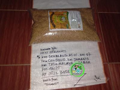 Benih pesanan  HENI HERAWATI Tasikmalaya, Jabar  (Sebelum Packing)