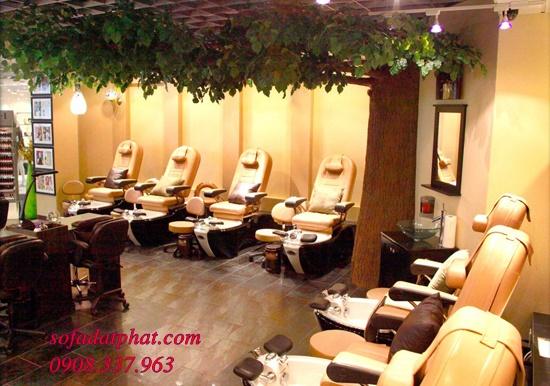 thiết kế tiệm nail, thi công tiệm nail, trang tri tiệm nail, thiết kế thi công tiệm nail, ghế nail, ghế sofa nail