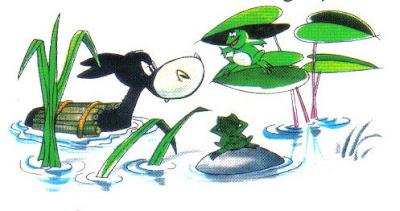 el asno y las ranas