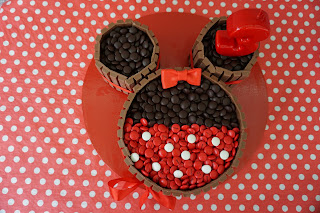 tarta decorada minnie sense fondant