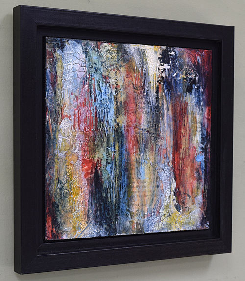 square textural abstract painting