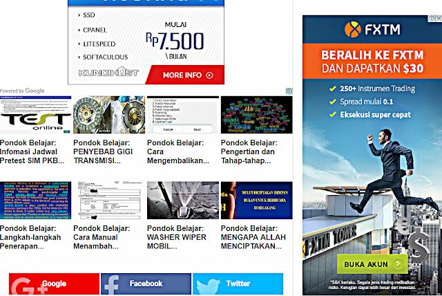 Memahami jenis katagori iklan matched content Google Adsense