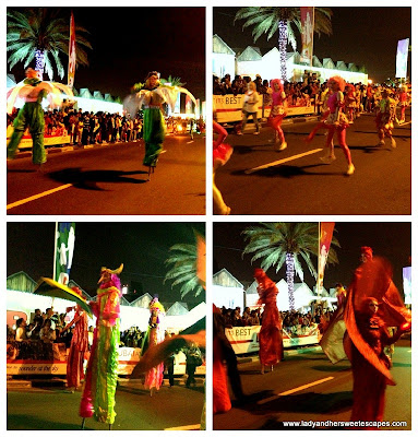 DSF dancers in flashy costumes
