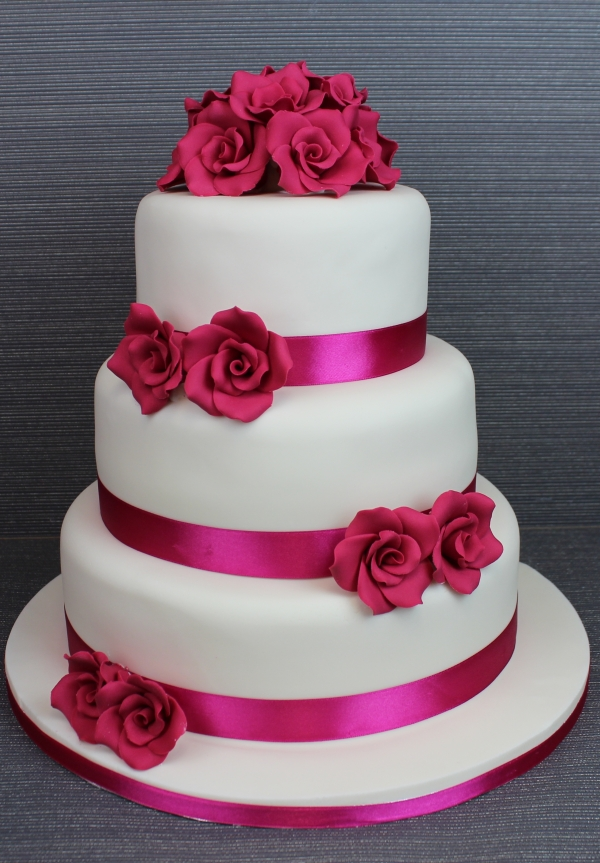 Wedding Cake Ideas Navy And Hot Pink