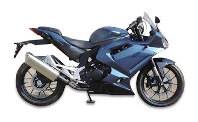 Hyosung GT300R blue sport bike