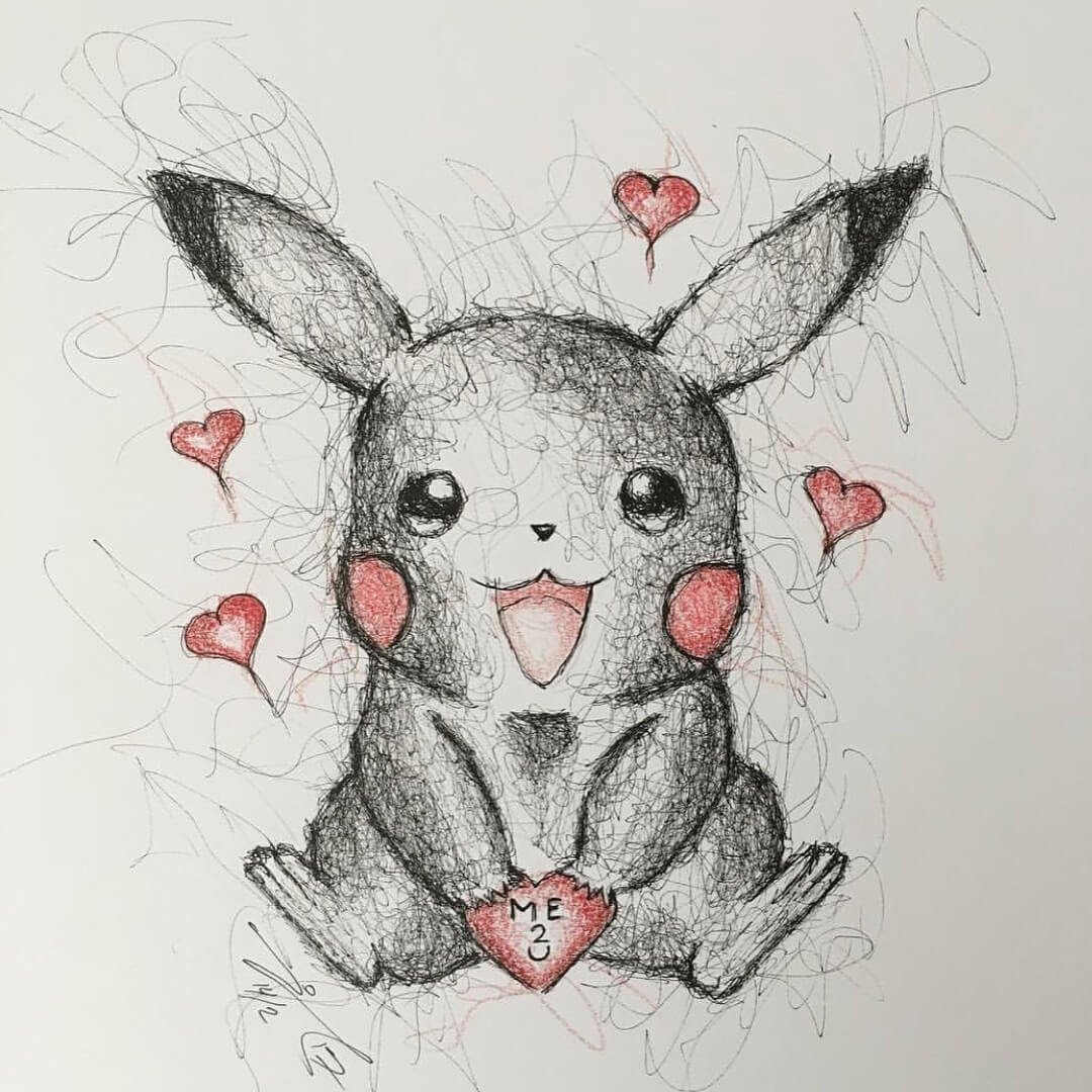 03-Pokemon-Pikachu-Jimmy-Mätlik-Fantasy-Animal-drawings-form-the-Movies-www-designstack-co