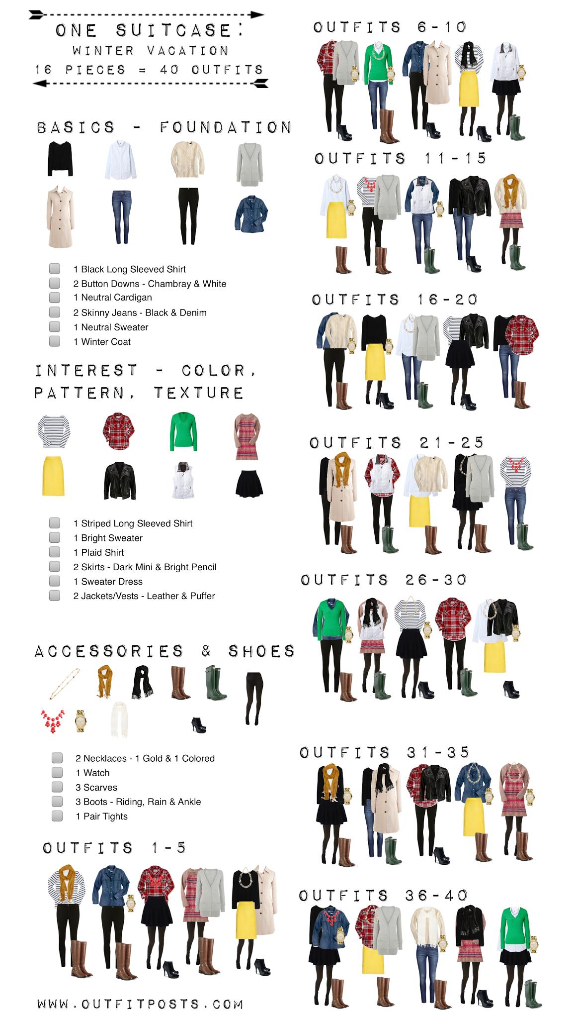 Printable Travel Packing List Winter