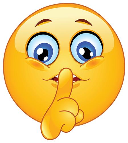 Shushing Smiley | Symbols & Emoticons