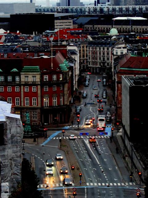 Copenhagen Traffic - View from The Tower, Christiansborg Slot, Copenhagen