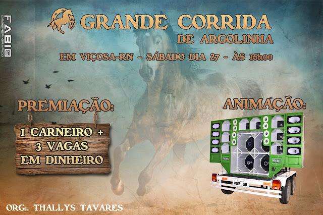 Confirmado corrida de Argolinha no município de Viçosa/RN